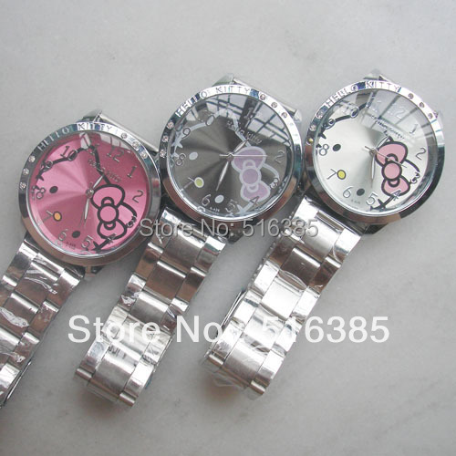 Hello Kitty Watch Stainless steel Wrist watch Quartz Promotional Item Fashion 1 - The new product store