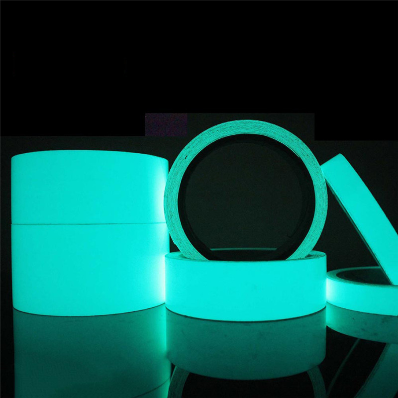 5M DIY Glow Luminous Tapes Warning Stripes Night Lighting Emergency Lines Fluorescent Anti-collision Strip Sticker DUO2