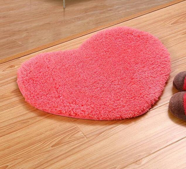High Quality Love Plush Carpet Heart Mats Area Rug For