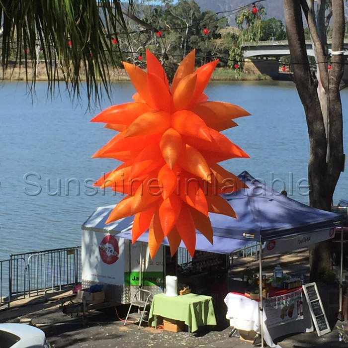 2016 brand newest christmas hanging orange inflatable star for nightclub/party/festival music stage decoration(China (Mainland))