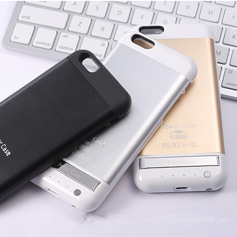 For iPhone 6S 6 4.7 Inch Rechargeable 3800mAh Aluminum Battery Case Power Bank Pack Charger Stand Case Back Cover 2015 New(China (Mainland))
