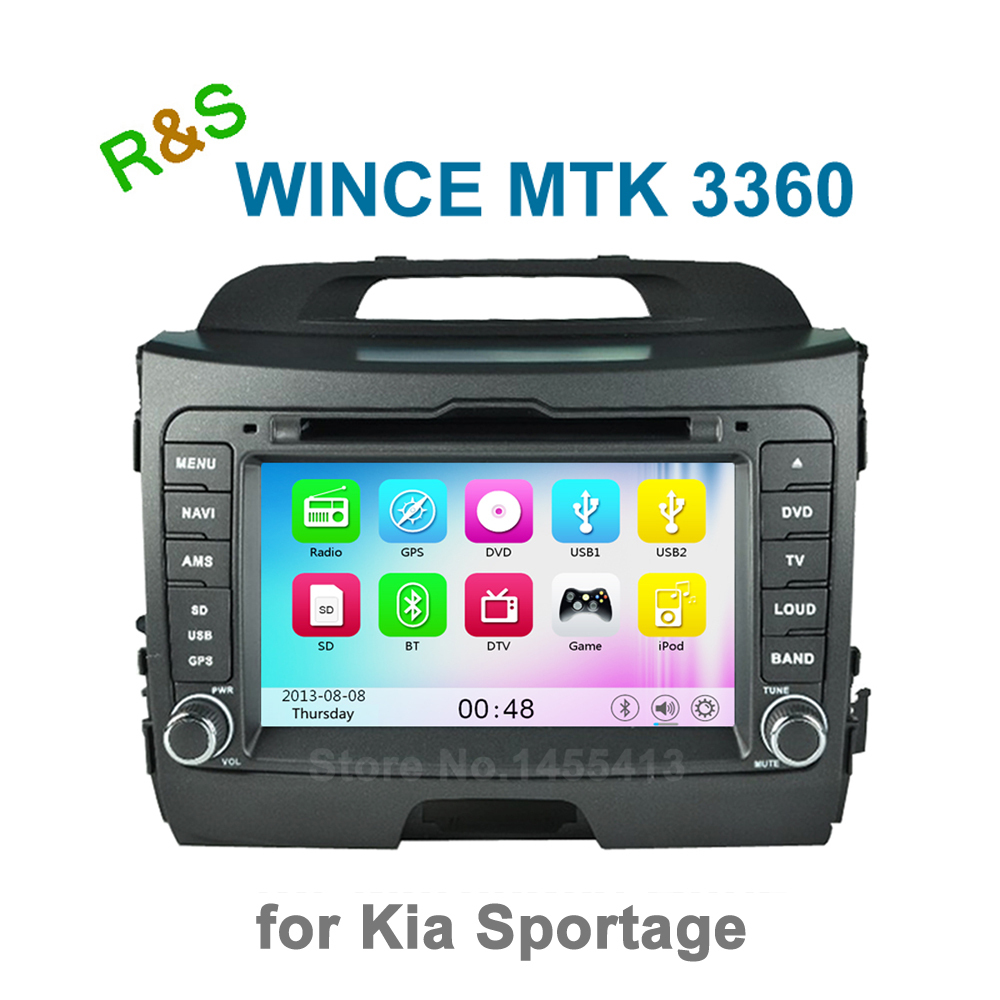 Car DVD Player Radip for Kia Sportage R 2014 2013 2012 2012 2010 with Bluetooth GPS support 3G WiFi Ipod + free 8GB map card(China (Mainland))