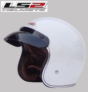 Free shipping LS2 OF583 Prince retro helmet helmet motorcycle helmet/Special white