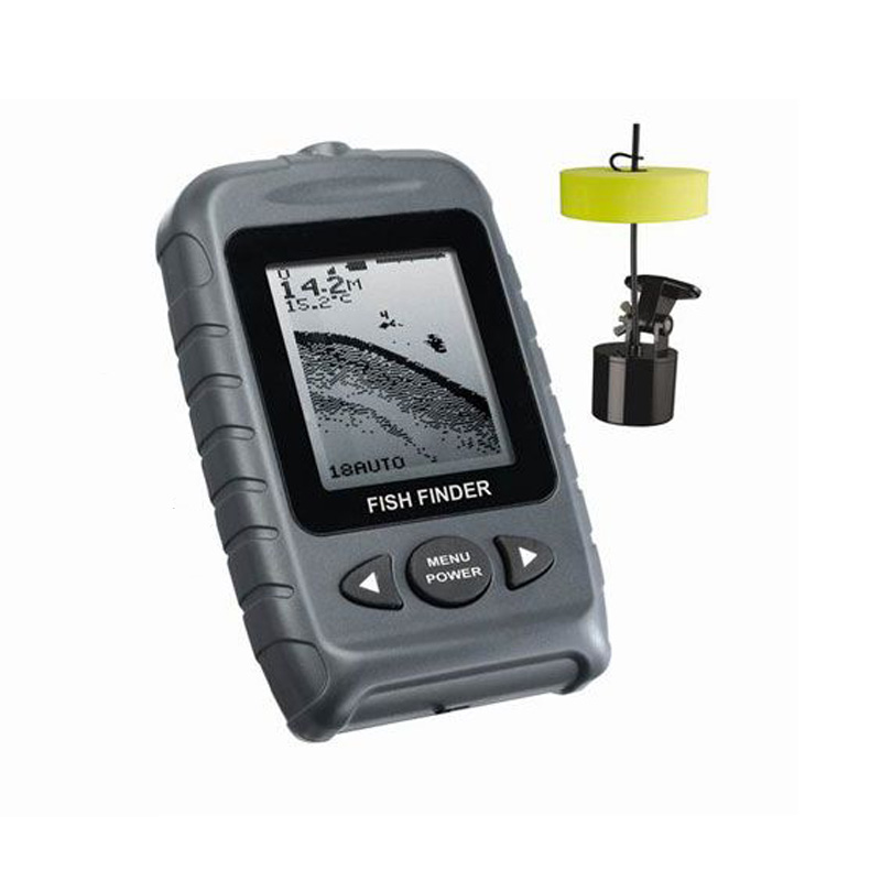 Fishing tackle with floating transducer portable fish for Fish finder transducer