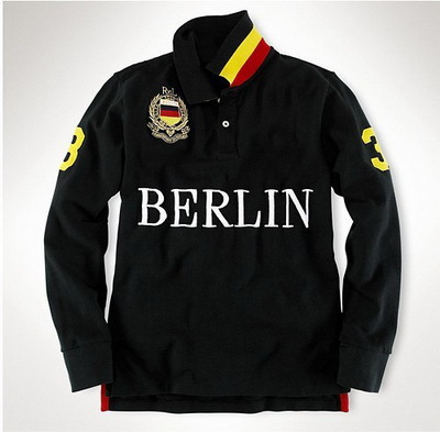 City Name Shirts Rome Berlin New York Longdon Milan Pure Cotton Sports Golf Shirts Long sleeve Shirts Classic US fashion tshirts(China (Mainland))