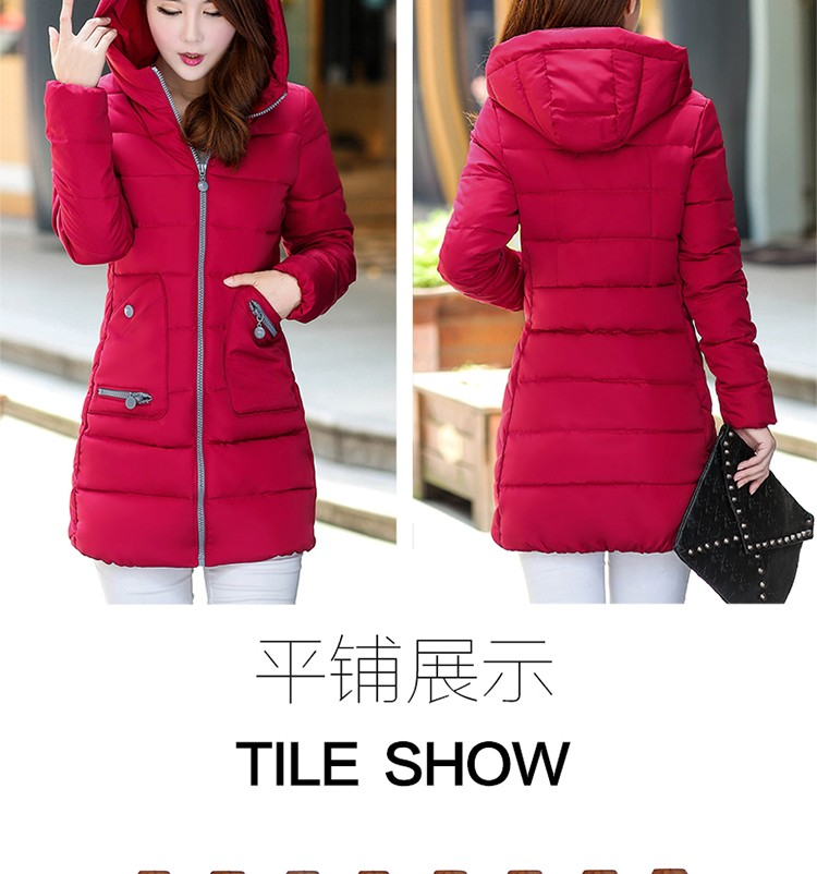 New Korean Pakra women down coat Slim Hooded thicker coat Girls long winter coat big yards jacket warm outerwear ladies