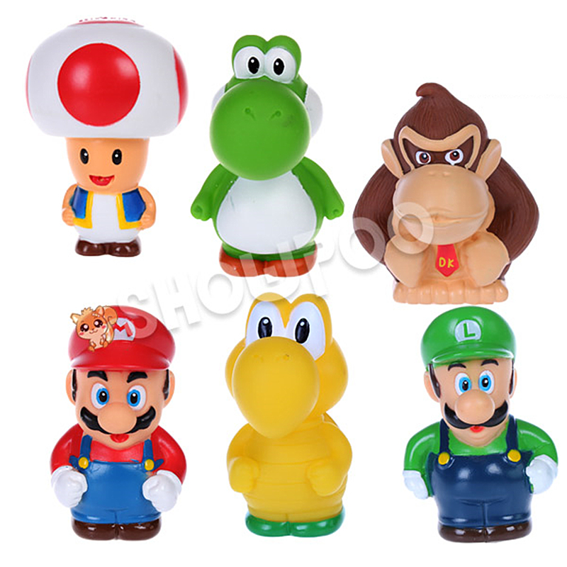 6pcs/set Super Mario Wario Action Figures PVC Doll Model Toys Japan Anime Toys Collections With Nice Package #E(China (Mainland))