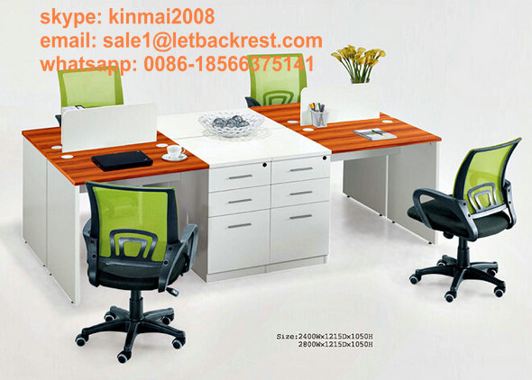 staff computer office table, four people office workstation, office desk for 4 person(China (Mainland))