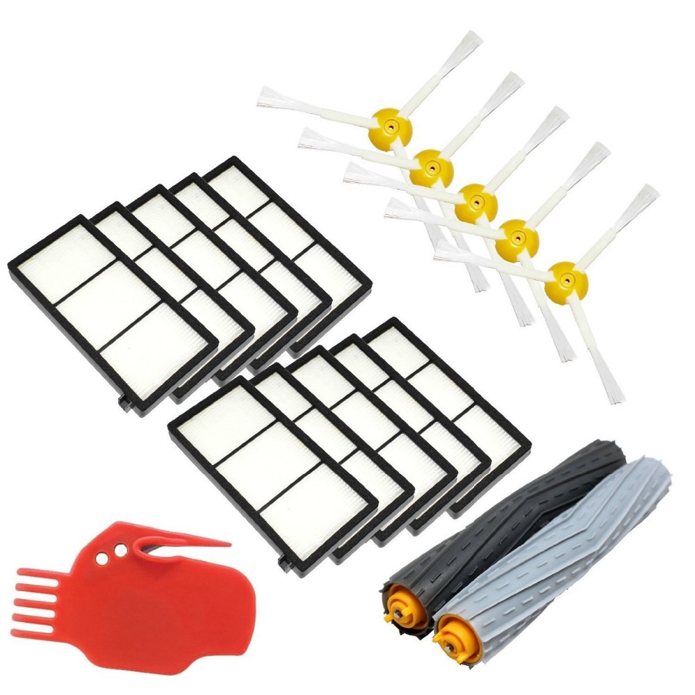Tangle-Free Debris Extractor Replacement Kit iRobot Roomba 800 900 series 870 880 980 Vacuum Cleaning Robots(China (Mainland))