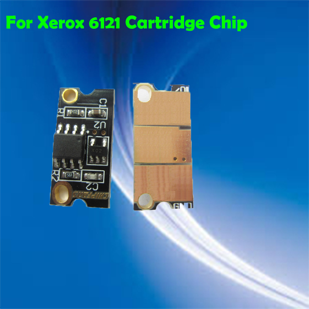 Free Shipping phaser 6121 compatible color printer cartridge reset toner chip for Xerox 6121(China (Mainland))