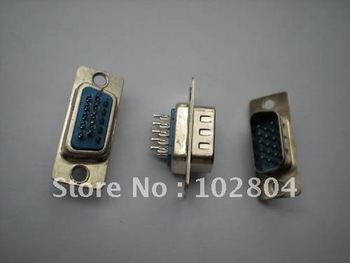 D-Sub 15 PIN male Solder Connector for PC Use  120 pcs per Lot