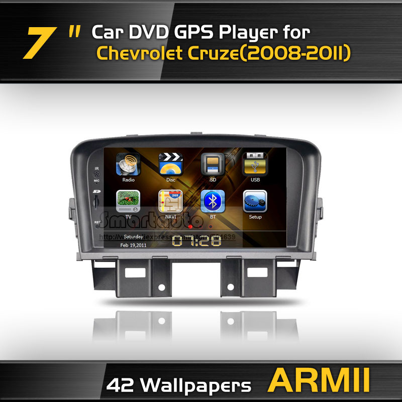 Best selling record high quality for Chevrolet Cruze dvd gps with iPod Bluetooth TV Canbus,ARM11,Gift:4G Card+Latest 3D Map(China (Mainland))