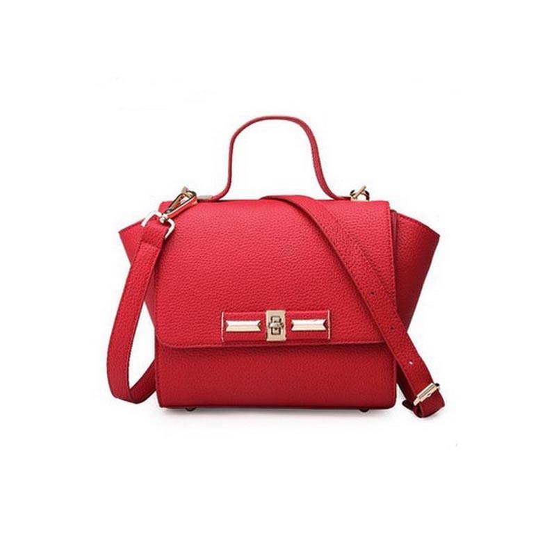 2016 New fashion women shoulder bag leather hand bag lady cross bag red chain bagbolsas mujer XA1201B(China (Mainland))