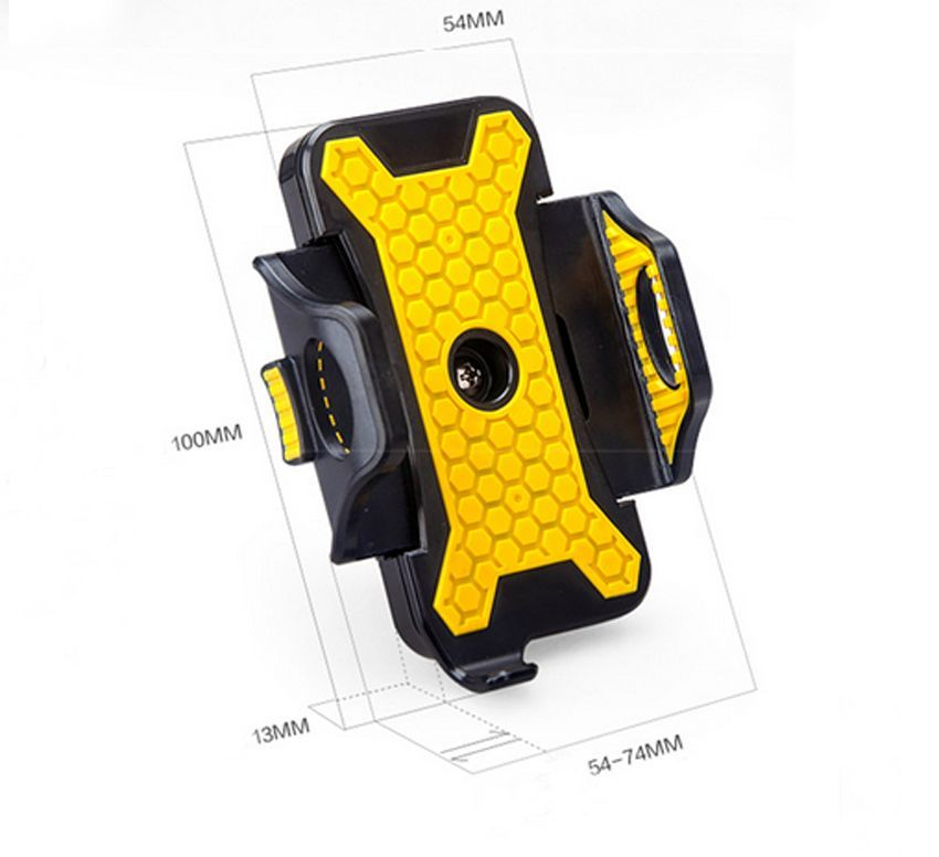 Cycling Bike Bicycle Mobile Phone Holder Bike Bicycle Handle Phone Cell Phone Support Telephone Case Black Yellow(China (Mainland))