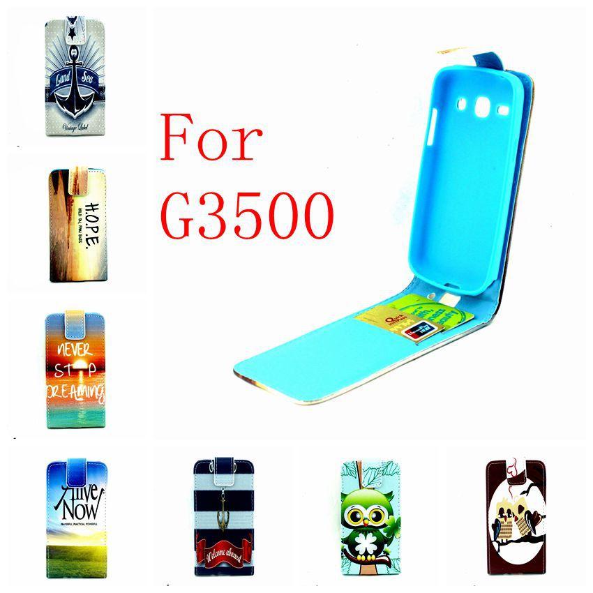 Fashion Verticale Flip Soft Case Credit Card Holder For Samsung Galaxy Core Plus G350E G3500 G350 SM-G350 Trend 3 G3502 Case(China (Mainland))