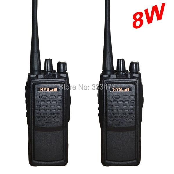 TC-8W Radio New design radio mobile 2 way radio 8W high power walkie talkie HYS Black(China (Mainland))
