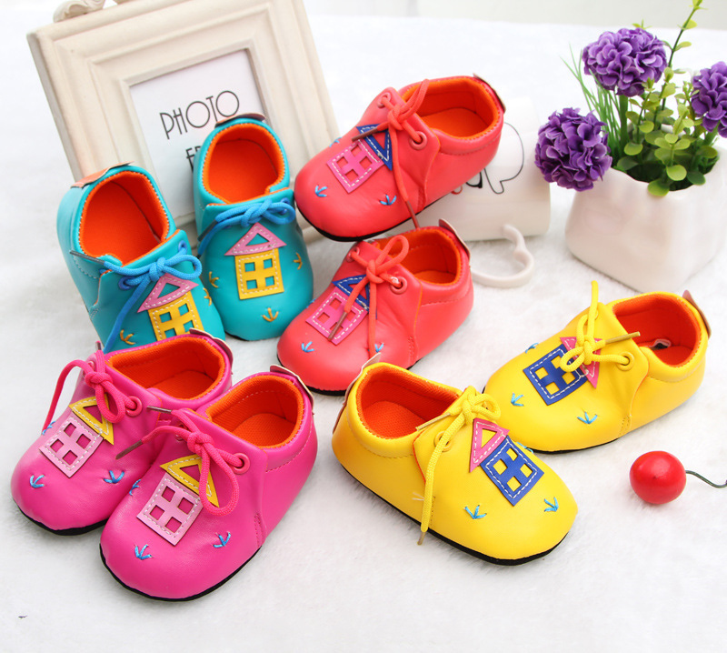 2015 new soft pu baby toddler shoes girls boys shoes cute cartoon girls first walkers baby pre walkers primeiros caminhantes(China (Mainland))