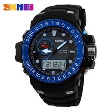 1 pc/lot envío gratuito 2015 nuevas ventas calientes marca skmei 50 M aguas profundas conjunto a prueba de reloj digital de pulsera