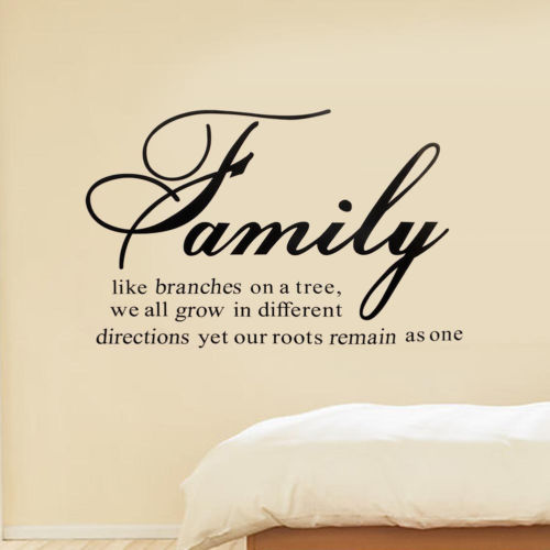 Family Tree Together Love wall Vinyl Sticker Decal quote Home Room Decor Art 2016(China (Mainland))
