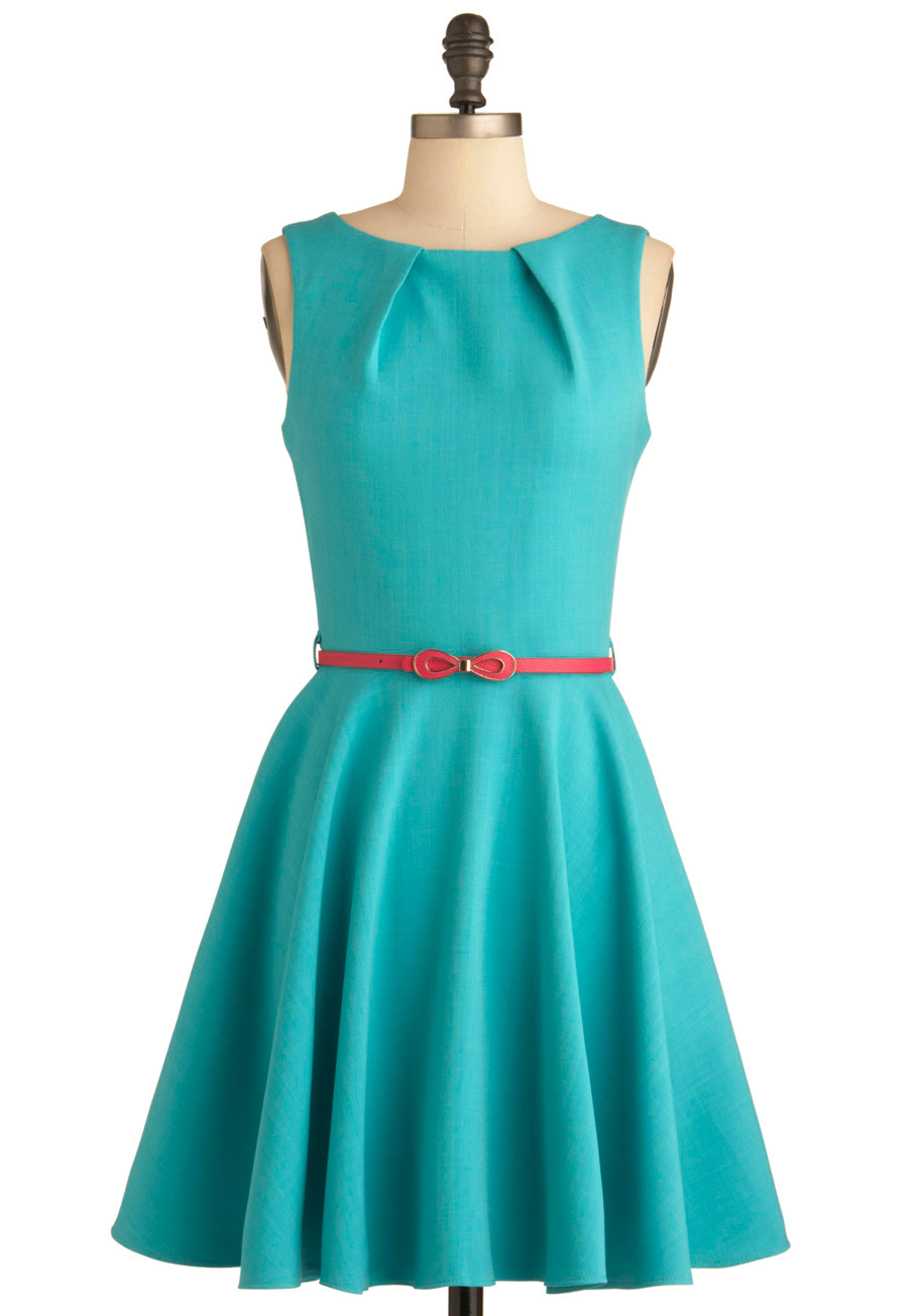 Lovely o neck short teal bridesmaid dress for weddings for Teal dress for wedding
