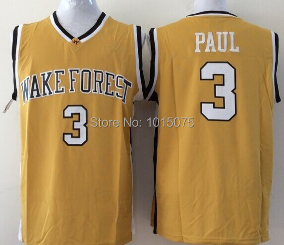 Chris Paul NCAA College Jersey Wake Forest Demon Deacons Yellow(China (Mainland))