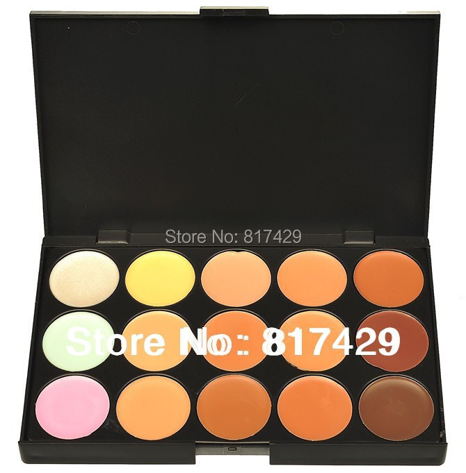 Wholesale new professional 15 colors concealer palette for Top rated neutral paint colors