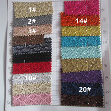 mini roll 30cm X 138cm lace glitter PU leather fabric  for  project DIY craft(China (Mainland))