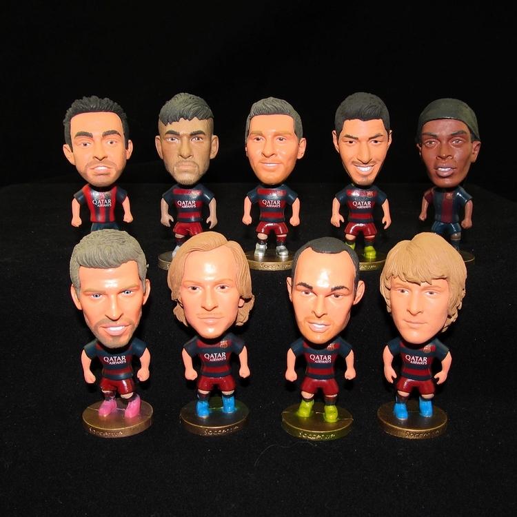 Hot! New Season 15-16 Soccer Star MEESI NEYMAR Suarez Toy Doll Figure Sport Football Player Dolls Free Shipping(China (Mainland))
