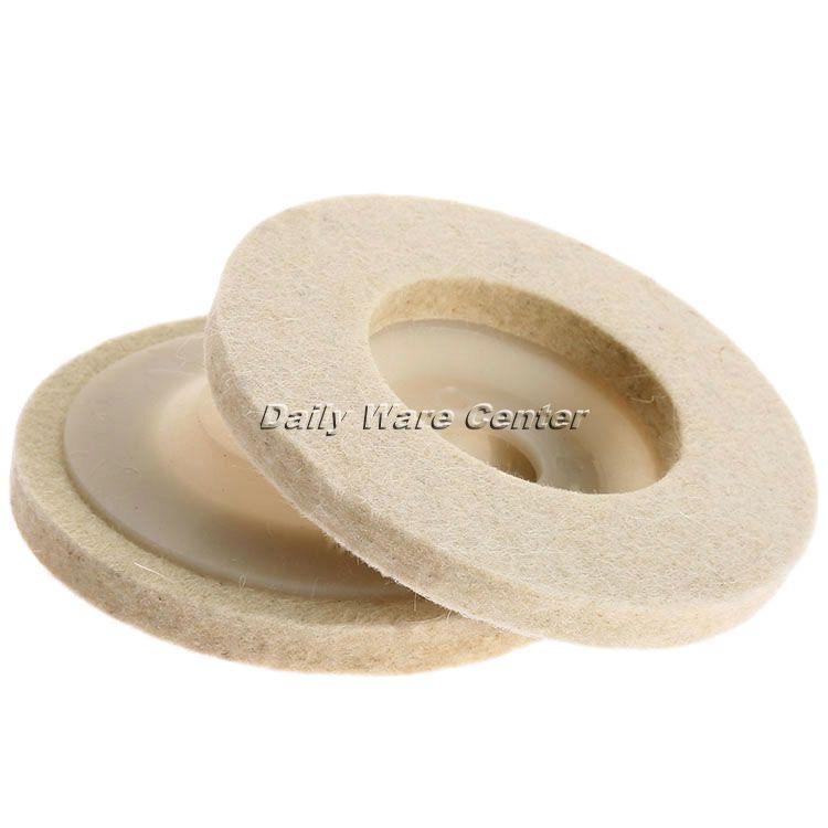 1Pcs 4Inch Dia 100mm Round Polishing Wheel Wool Felt Buffing Polishers Pad Pearl Cloth Buffing Wheels Abrasive Tool Car Styling(China (Mainland))