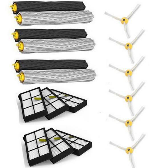 3 set Tangle-Free Debris Extractor Brush +6 Heap filter +6 side brush  for iRobot Roomba 800 Series 870 880  890 Vacuum Cleaner<br><br>Aliexpress