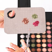 1pcs Pro Cosmetic Makeup Mixing Palette Spatula Tool Stainless Steel Hands-free Matte Packaging High Quality(China (Mainland))