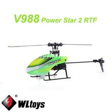 WLtoys V988 Power Star 2 4CH 6-Axis Gyro Flybarless Helicopter Mode 2