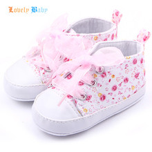 Baby Kids Girls Cotton Floral Infant Soft Sole Shoes Toddler First Walker 3 Colors(China (Mainland))