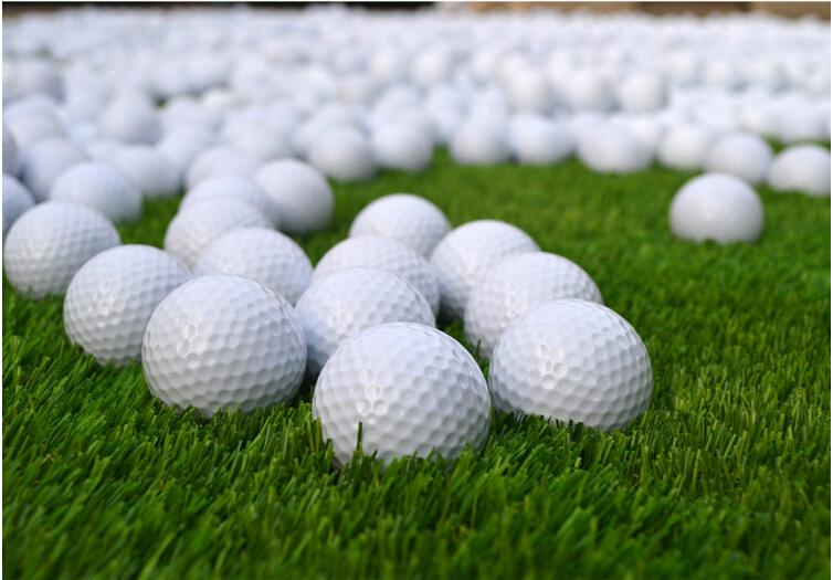 wholesale 10pcs/lot Double-Deck Golf Ball Training White Golf Balls pro practice balls golf indoors beginners(China (Mainland))