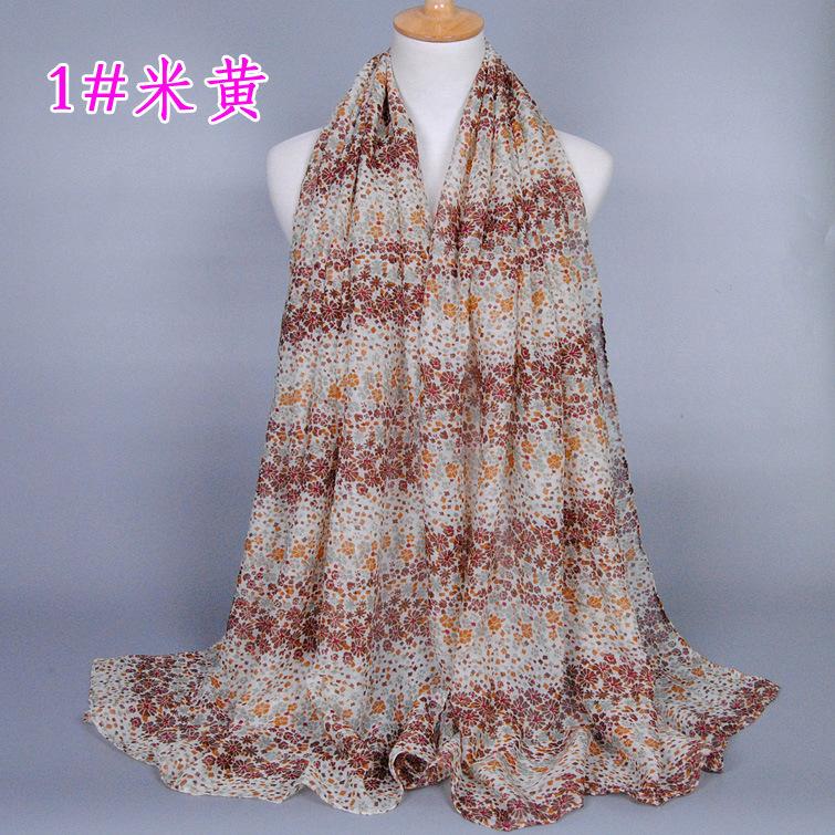 8 Color Small Pokal Floral Pattern Viscose Shawl Scarf 2016 Latest Casual Silk Snood Long Wrap Pashmina Shawl Foulard Echarpe(China (Mainland))