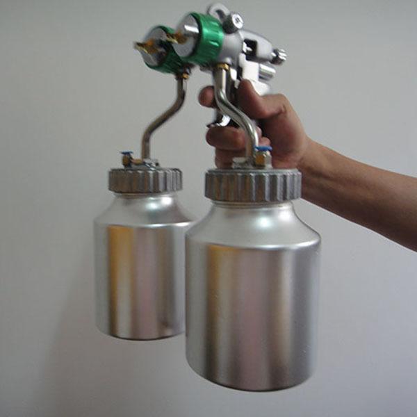 SAT1200 air paint sprayer hvlp spray gun with 2*1000ml bottle compressed air painting gun<br><br>Aliexpress