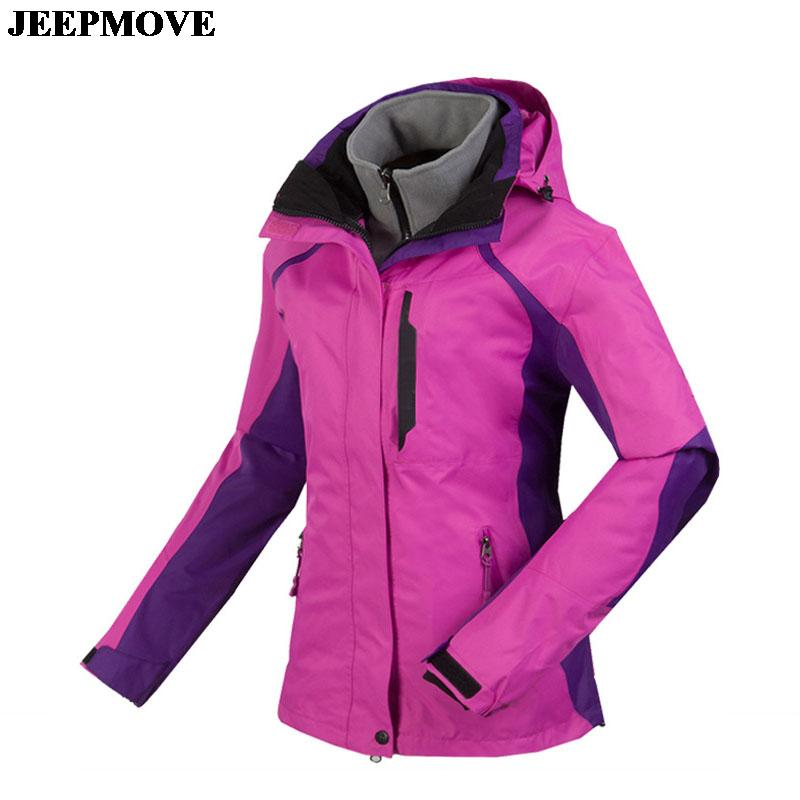 women's outdoor WEITEX climbing Jackets detachable fleece liner waterproof windproof warm ski jackets women S~2XL W5521
