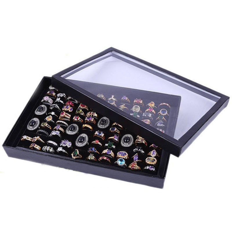 Free Shipping 2015 New Jewelry Rings Display Box Jewelry Show Case 100 Slot ewelry Display Rings Holder Box jewelry Storage Box(China (Mainland))