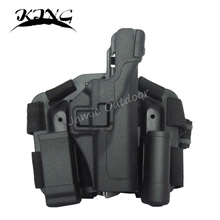 Tactical LV3 Compact RH Drop Leg Holster with Magazine Light Pouch For GLOCK 17 19 22 23 31 32