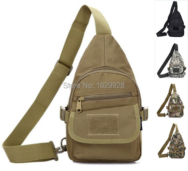 2015 Nylon Outdoor camouflage shoulder bag men and women hiking chest bag military discount package a generation of fat(China (Mainland))