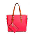 Fashion Luxury Tote Women 2016 New Trendy Composite Bag Contrast Color Thin Handles Shoulder Bag Hand