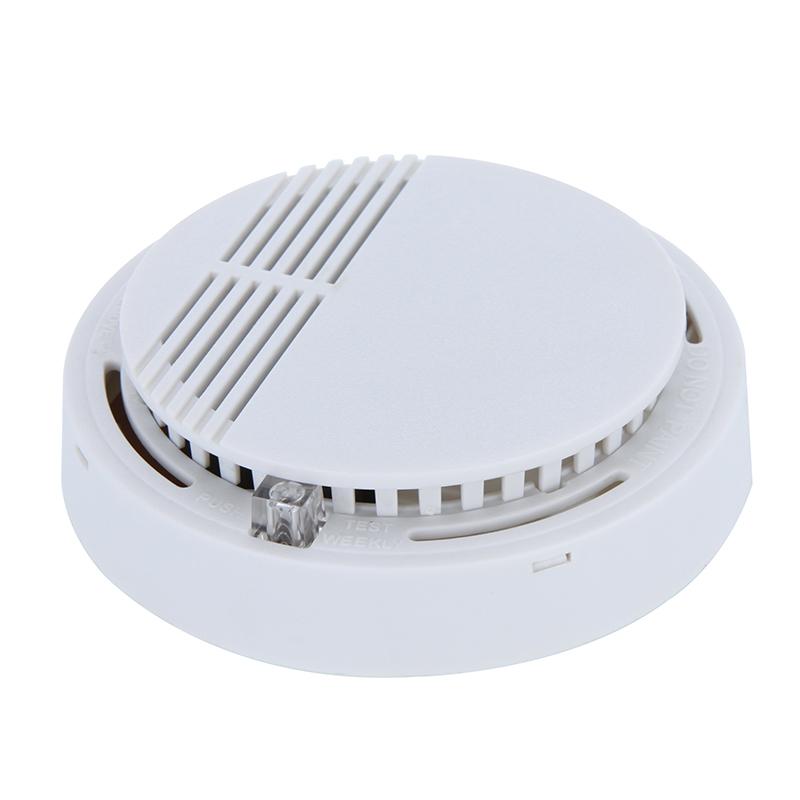 high sensitive wireless smoke sensor detector work alone 85db voice alarm home security fire. Black Bedroom Furniture Sets. Home Design Ideas