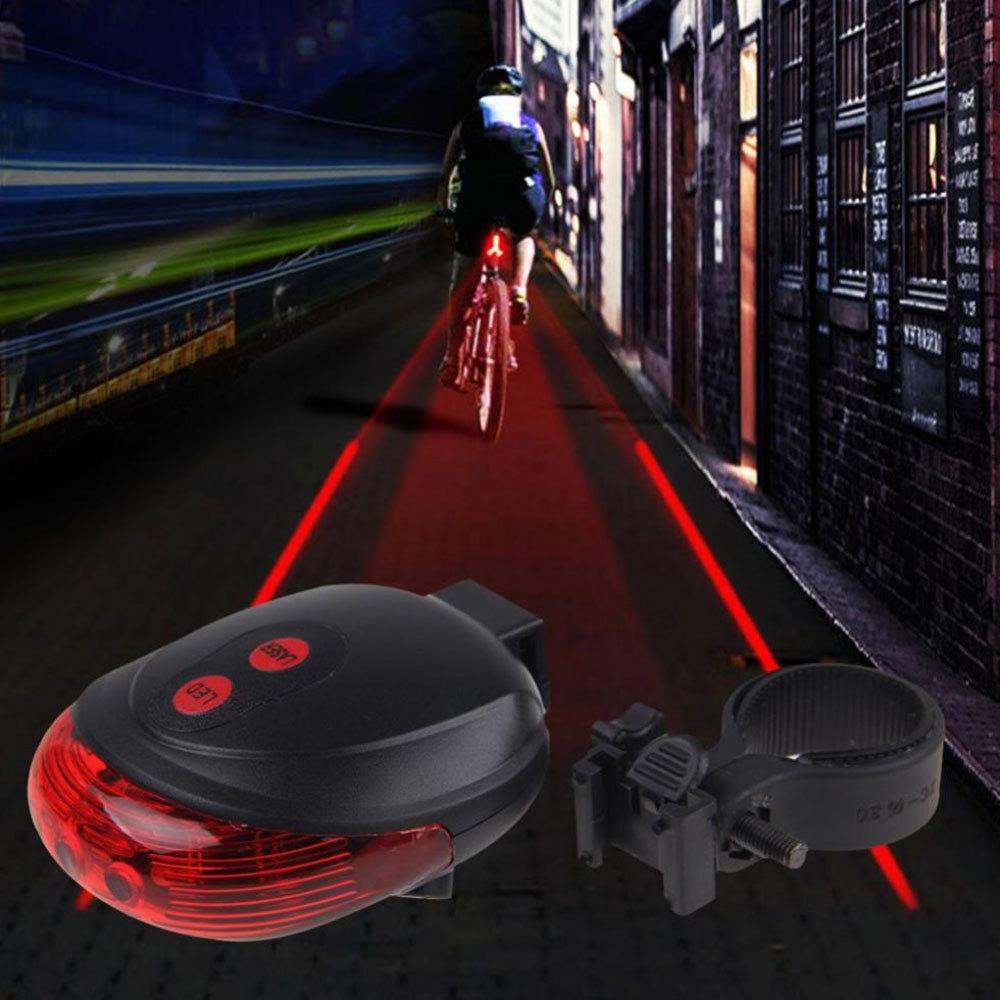 5LED+2Laser Cycling Safety Bicycle Rear Lamp waterproof Bike Laser Tail Light Headlight Warning Lamp Flashing Lampfair(China (Mainland))