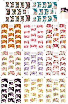 Free shipping water stickers ,water transfer nail art sticker ,water decals,French style nail stickers(B067-077)
