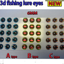 2015NEW fishing 3d lure eyes A 200pcs +B 200pcs +C 200pcs 3MM–6MM total :600pcs/lot fly eyes