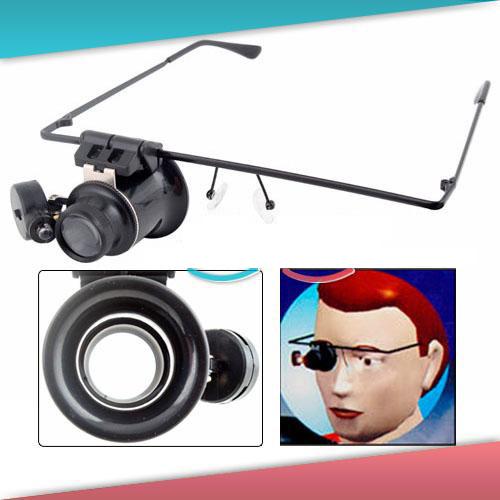 20X Glass Magnifier Magnifying Lens Gauge LED Light Handicraft Watch Repair<br><br>Aliexpress