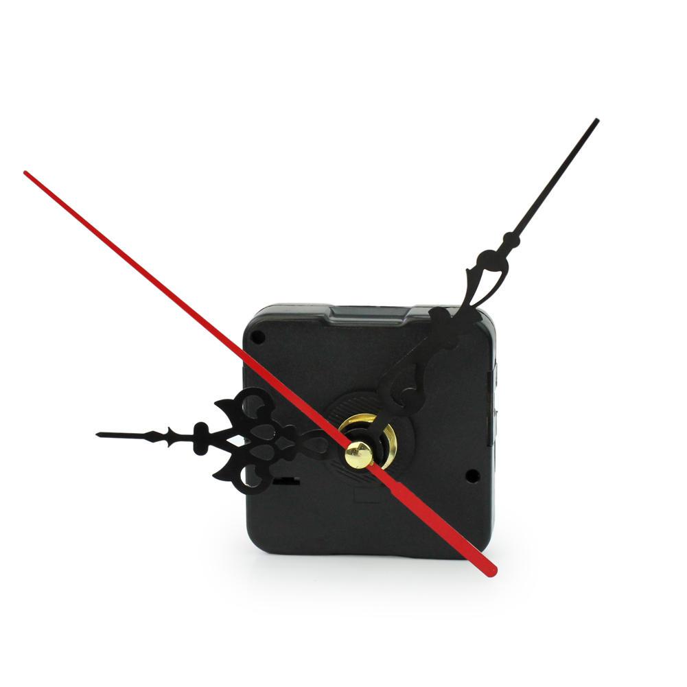 Vintage Professional Quartz Clock Mechanism Movement Repair Replacing Part Kit DIY Tool Mute Red Black Hollow Hands(China (Mainland))