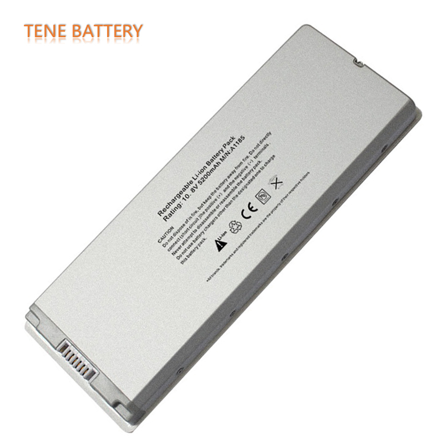 "10.8V 5200mAh Replacement Laptop Battery A1185 MA561 MA561FE/A for Apple MacBook 13"" Series White Free Shipping A1185 Batteries(China (Mainland))"