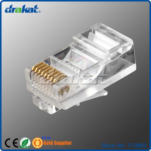 Good quality UTP 3U Cat5e RJ45 Modular Plug(China (Mainland))