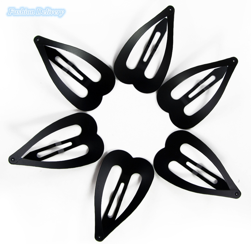 6pcs/Lot Black BB Clips Peach Heart Pattern Duckbill Clip Accessories Small Hair Clamp Hair Clip Hairpin For Girls Free Shipping(China (Mainland))